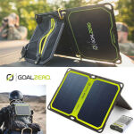 太陽光強度インジケータを搭載! ソーラーパネルとポータブル充電器のセットモデル