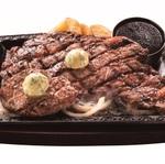 ステーキガスト肉on肉「テッペン対決フェア」