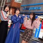 秋葉原の専門店でアップアップガールズ(仮)(2)(プ)の3人がプレゼント対決!
