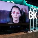 """""""DUAL CELL""""液晶に8Kテレビ、レーザーテレビが並ぶCES 2020ハイセンスブース"""