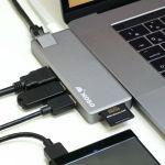USB-CだけのMacBookAir/Proに様々なインターフェースを追加するマルチポートドック