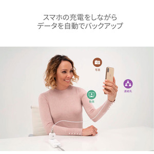 iPhone/Android両対応! 自動バックアップ用リーダー「Hyper+Cube」