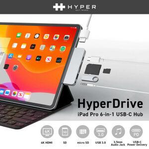 薄さはわずか1cm! iPad Proに最適なUSB-Cハブ