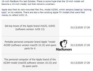 アップル、14インチMacBook Proを近く発表か