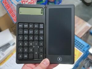 計算しながらメモが取れる! 激安電子メモパッドに電卓が合体
