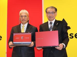 浦和レッズのカラーとロゴで彩られたオフィシャルPCをマウスコンピューターが発表