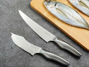 誰でも簡単に魚をさばける「サカナイフ」2本セットが1万9000円
