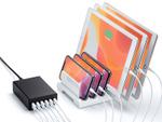 6ポート合計12A出力の高耐久USB充電器、サンワサプライ