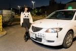 コスプレバイク女子・美環、方向変換と縦列駐車で悪戦苦闘