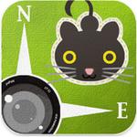 【iPhoneアプリ】猫が撮影位置や仰角を記録してくれるカメラ『ふぉとぶらり』