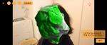 Xperia 1の「3Dクリエイター」で自分の頭部をスキャンした