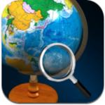美麗で小さな地球儀で教養を身に着けられるiPhoneアプリ、i地球儀