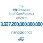Intelが第4世代コアiを告知!? 3,337,200,000,000,000ナノ秒