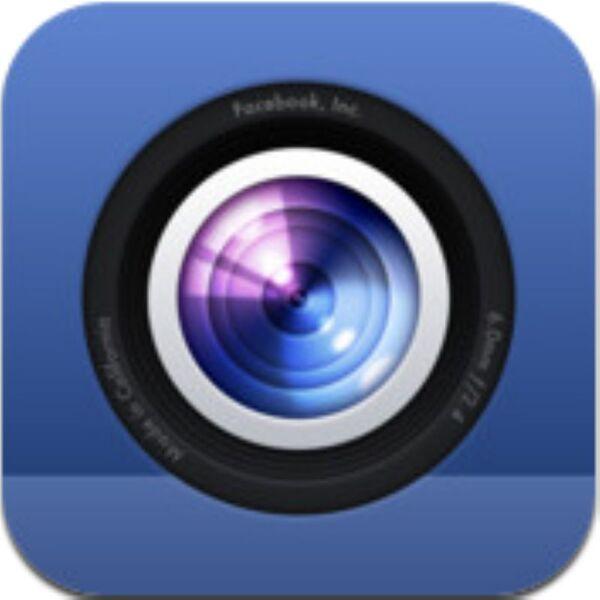 写真を手早くFacebookに投稿できるiPhoneアプリ、Facebookカメラ