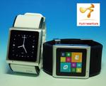 Android4.0搭載の腕時計型スマートフォンに待望の生活防水モデルが新登場!