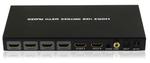 フルHD1080p/3D映像に対応した4入力2出力のHDMI切り換え器