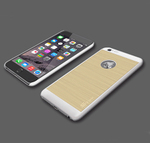 iPhone 6/6 PlusのAppleロゴが光るメタリックなケース