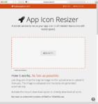 ワンタッチでアイコン画像をリサイズできる便利サービス「App Icon Resizer」