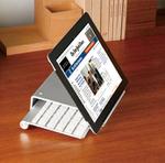 タブレットとキーボードをスッキリ収納できるアルミ製スタンド