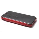 カーボンと本革の組み合わせがクールなカードポケット付きiPhone 6 Plusフリップケース