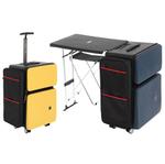 いつでもどこでも机が使えるデスク付き4輪スーツケース登場!