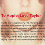 テイラー・スウィフトがApple Musicの3カ月無料期間に反対!最新アルバムを配信中止