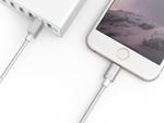 4000回折り曲げOKの強くて柔らかい高耐久Lightningケーブル!iPhoneと同じ3色