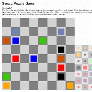 Chromeで同じ色のマスを結ぶ無料ゲーム Synx Puzzle Gameで遊ぼう!!