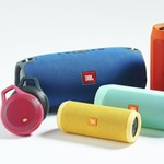 JBLのジャブジャブ洗える防水対応Bluetoothスピーカーが大小合わせて4種類発表