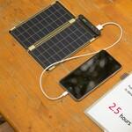 手帳に挟んで持ち運べるソーラーチャージャー『Solar Paper』がカッコいい