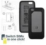 2枚のSIMカードをスイッチで切り替えられる大人気ケースに待望のiPhone 6対応モデル登場!