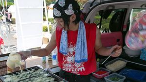 たこ焼き焼き続けた百花 繚乱さん故郷に錦を飾る ニコニコ町会議2015広島ほぼ完全レポ