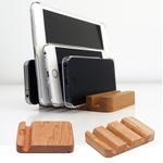 iPadを1、3、5台立てられる天然くるみ材の手作り木製スタンド3種が素敵!