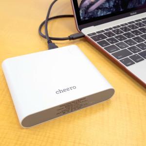 cheero Power Plus 3で12インチMacBookが20時間駆動の怪物マシンに!