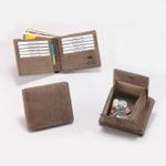 カード大量収納!レアなラクダ革のアンティーク調二つ折り財布
