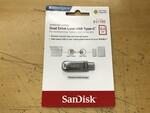 フルメタルのSanDisk製USB Type-Cデュアルメモリーに64GBモデル!