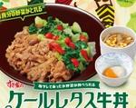 【本日発売】すき家「ケールレタス牛丼」