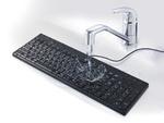 抗菌仕様で防水・防塵、丸洗いもできるキーボード、バッファローから