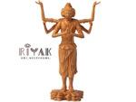 平成に多くの来場者を集めた阿修羅像をコンパクトにした木製仏像