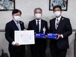 ブラザー 名古屋市に不織布マスク5万枚を寄附、感謝状を受領
