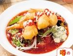 太陽のトマト麺「サクサク海老のチリトマ冷麺」