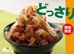 「岡むら屋」でニンニク醤油の「野菜肉めし」