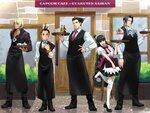 カプコンカフェ イオンレイクタウン店と『逆転』シリーズコラボのメインビジュアルを公開!