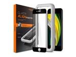 専用の貼り付けガイド枠が付属するiPhone SE(第2世代)用保護ガラスフィルム