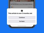 Facebook、古い記事のシェア時に通知する新機能を追加