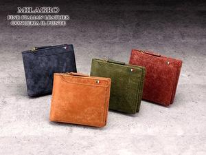 大小23ものポケットを装備した使いやすい二つ折り財布が期間限定特価