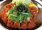 松のや「塩だれメガチキンかつ定食」鶏モモ丸ごと1枚使用