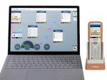 キヤノンMJ、軽量バーコードスキャナ端末とノーコード開発ツール発表