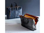 サンワサプライ、岡山デニムを採用したビジネスバッグ