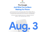 グーグル、8月3日のスマホ発表を予告 Pixel 4a?